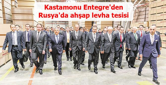 Kastamonu Entegre'den Rusya'da ahşap levha tesisi