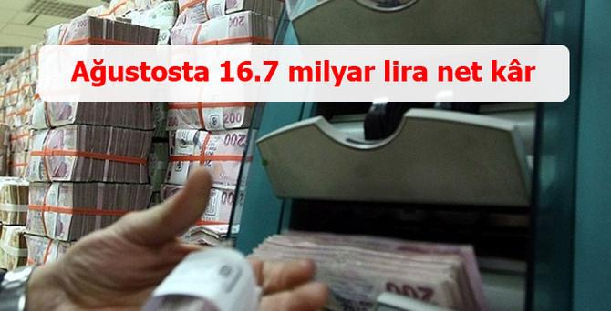 Bankalar 8 ayda 16.7 milyar kâr yazdı