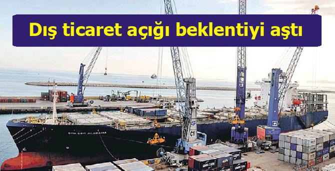 8 aylık dış ticaret açığı 54.2 milyar dolar