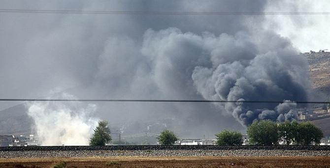 Kobani'de şiddetli çatışma