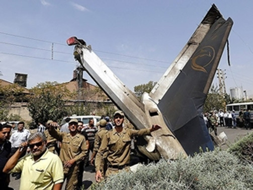 İran'da uçak düştü: 7 ölü