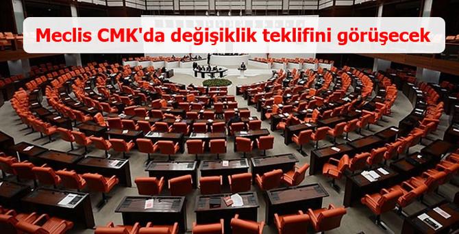 TBMM'de CMK'da değişiklik teklifi ele alınacak