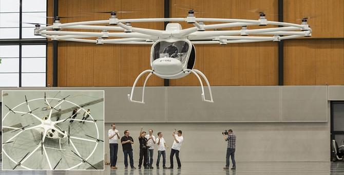 Volocopter ile ulaşımda uzay çağına ilk adım