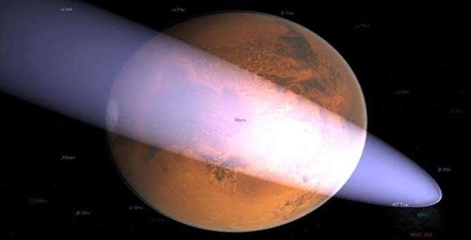 Kuyruklu yıldız, Mars'ın yakınlarından geçecek