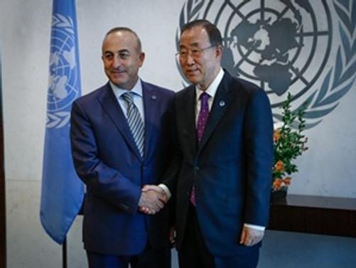 Dışişleri Bakanı Çavuşoğlu Ban ile görüştü