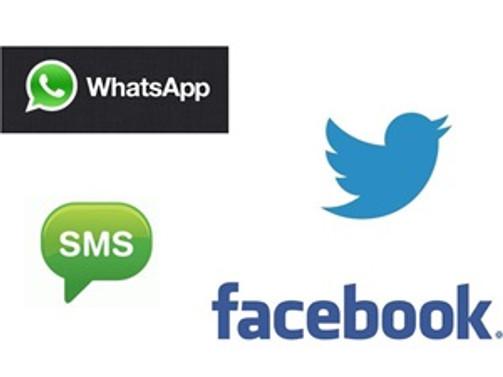 SMS'lere sosyal medya darbesi