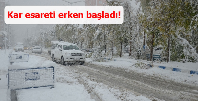 Kar yağışı başladı, 67 köye ulaşım kapandı!
