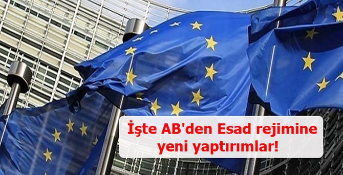 İşte AB'nin Esad rejimine yeni yaptırımları!