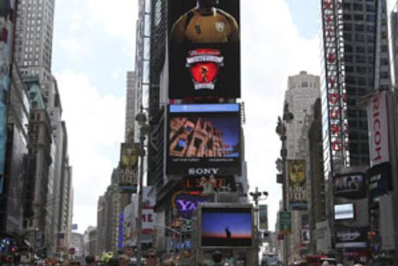 Türkiye reklamları Times Meydanı'nda dönüyor
