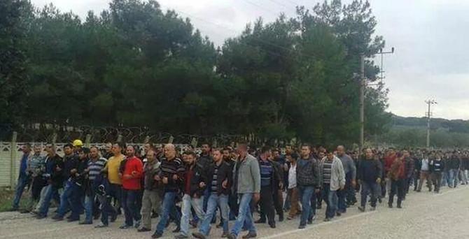 Yürüyüşe son verdiler Ermenek'e gidiyorlar