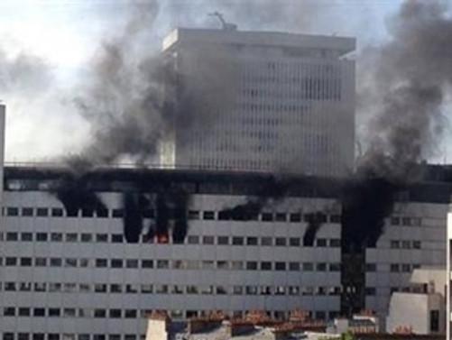 Paris'te radyo binasında yangın