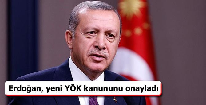 Erdoğan, yeni YÖK kanununu onayladı