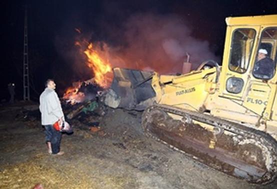 Çorum Bayat'ta 29 ev yandı