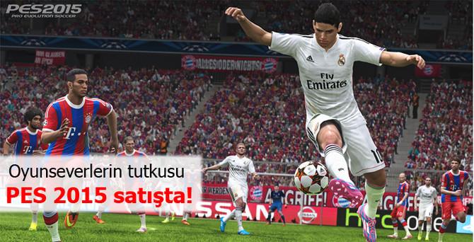 Oyunseverlerin tutkusu PES 2015 satışta!