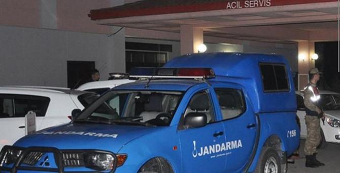 Jandarma er başından vuruldu!