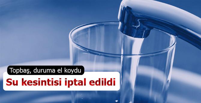 İstanbulluları bekleyen su kesintisi iptal!