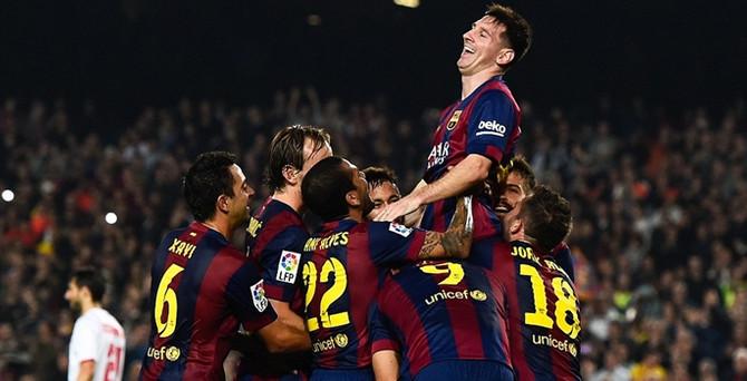 Barça formasıyla 4'üncü kez 'Dalya' dedi