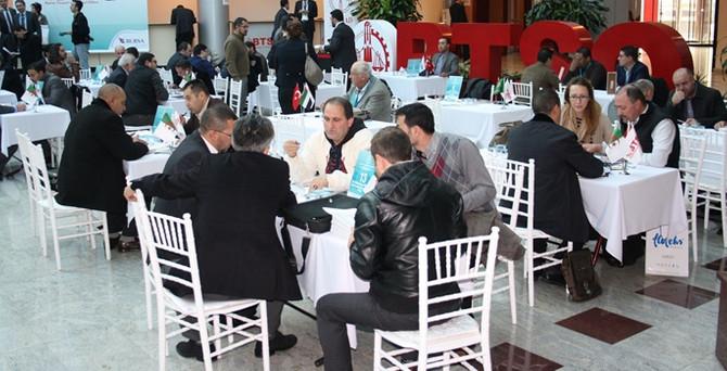 8 ülkeden 80 işadamı Bursa'da ikili iş görüşmeleri yaptı