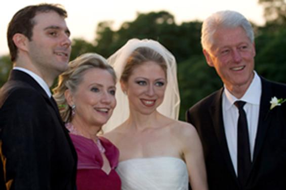 Clinton'ların kızı evlendi