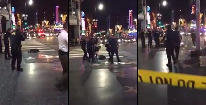 Hollywood'da polis sokak ortasında bir kişiyi vurdu
