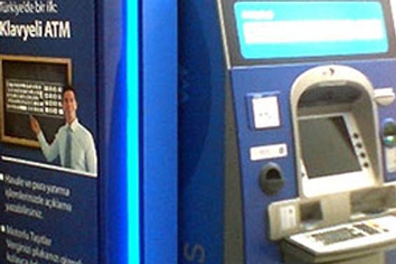 Klavyeli ATM'ler hizmete girdi