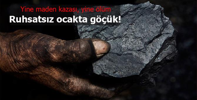 Zonguldak'ta bir işçi göçük altında kaldı