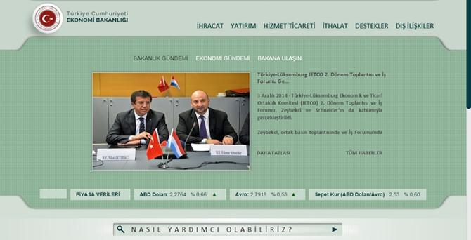 Ekonomi Bakanlığı internet sitesini yeniledi