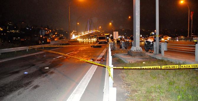Motosikletli polis görev yerinde öldü