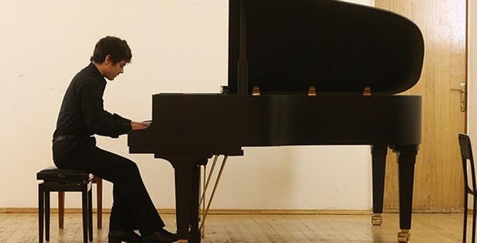 Genç piyanist dereceye giremedi