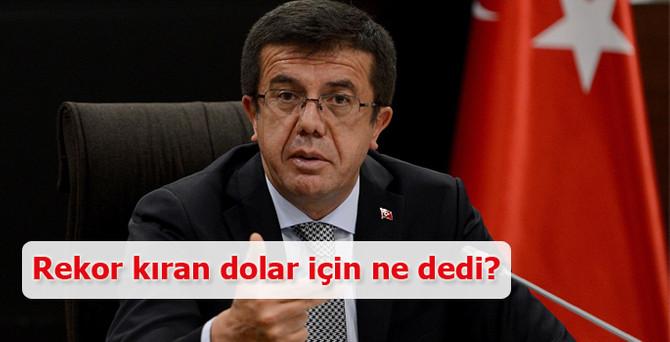 Zeybekci'den dolar yorumu: Endişe edecek bir şey yok