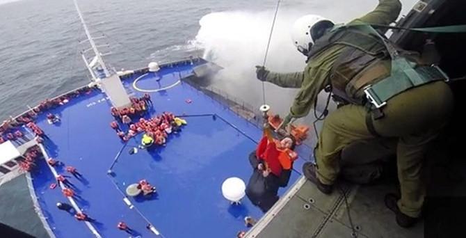 Adriyatik'te yanan feribottaki herkes kurtarıldı