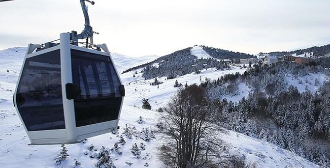 Teleferik kış turizminin merkezi Uludağ'a ulaştı