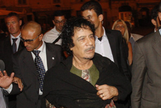 Kaddafi, İtalya'da manşetlerde