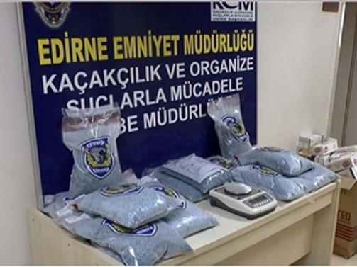 200 bin uyuşturucu hap ele geçirildi