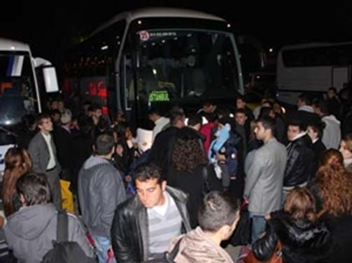 İstanbul otogarında yılbaşı yoğunluğu