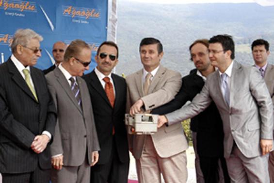 Ağaoğlu, Şah RES'in temelini attı