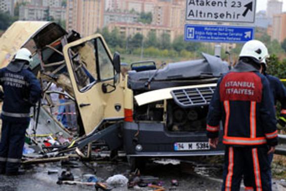 Başakşehir'de 4 günde 4 kaza