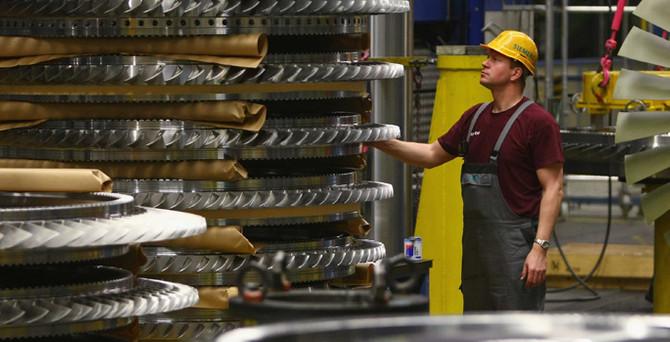 Almanya'da sanayi üretimi yükseldi