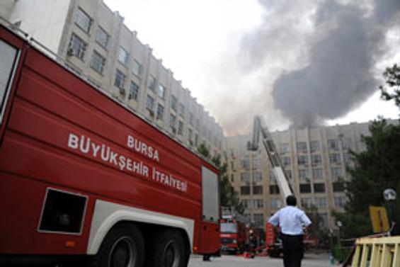 Uludağ Üniversitesi'ndeki yangın korkuttu