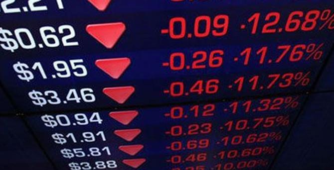 Borsa sert düştü
