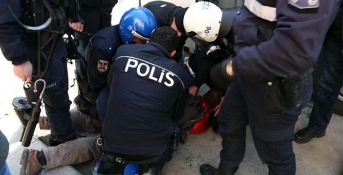 Polisten sert müdahale