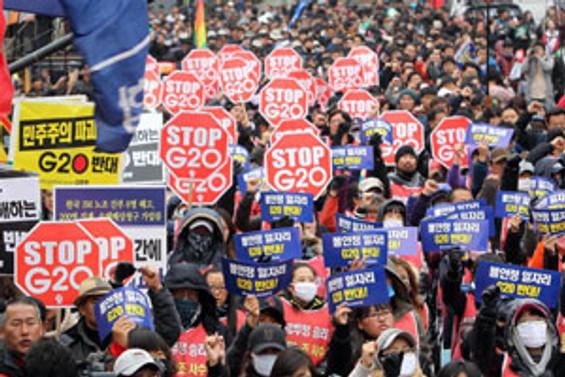 G-20 karşıtları sokakta