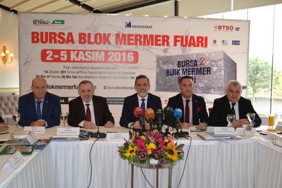 Bursa 2. Blok Mermer Fuarı Bursa'da başlıyor