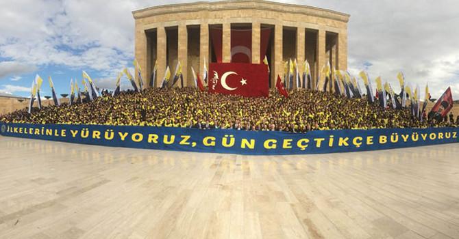 Fenerbahçelilerden Anıtkabir ziyareti