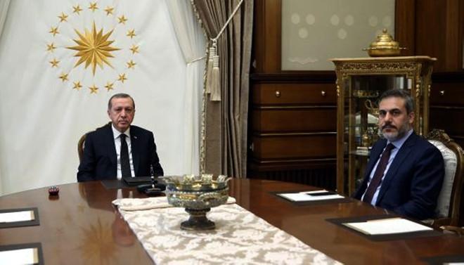 Erdoğan, Fidan'la görüştü