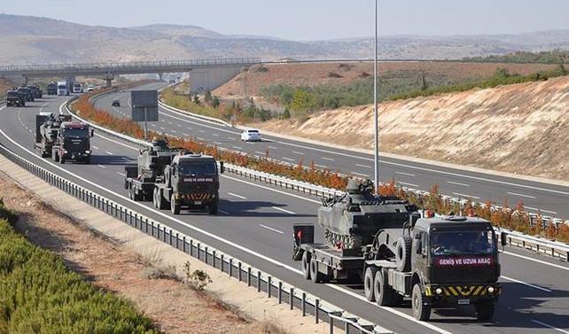 Askeri konvoyun bir bölümü Şanlıurfa'ya ulaştı