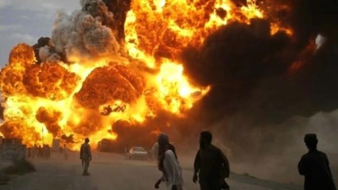 ABD Hava Üssü'nde patlama: Ölü ve yaralılar var