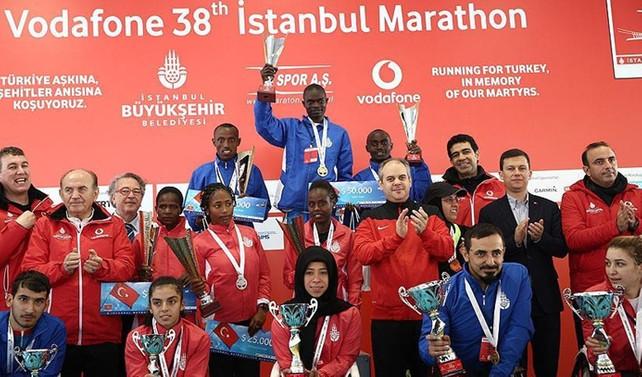 Vodafone 38. İstanbul Maratonu'nun kazananları belli oldu
