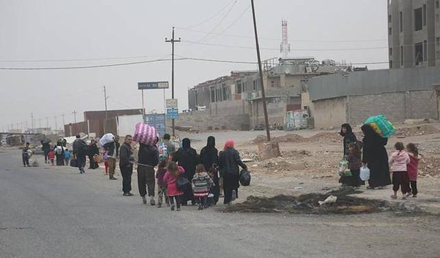 Musul'da yerlerinden edilen kişi sayısı 59 bine çıktı