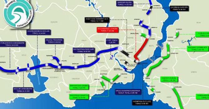 İstanbul'a 16 tünel daha geliyor